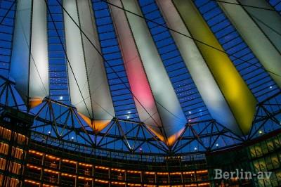 Sony Center Abendstimmung