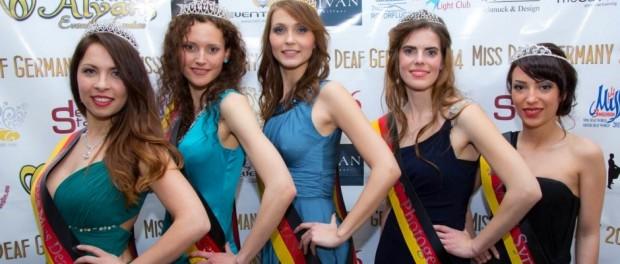 Siegerinnen der Wahl zu Miss Deaf Germany 2014 in Berlin