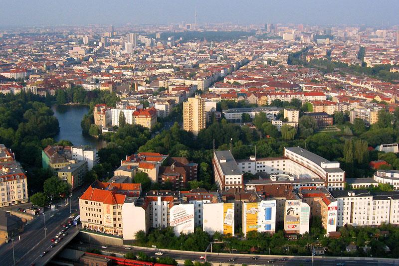 Blick vom Berliner Funkturm auf die Innenstadt