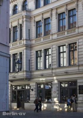 Gasse im Nikolaiviertel in Berlin