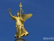 Frisch vergoldet, die Viktoria auf der Siegessäule