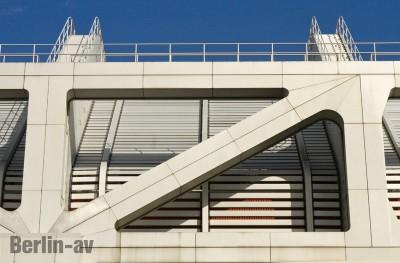 Das futuristische Design des ICC.