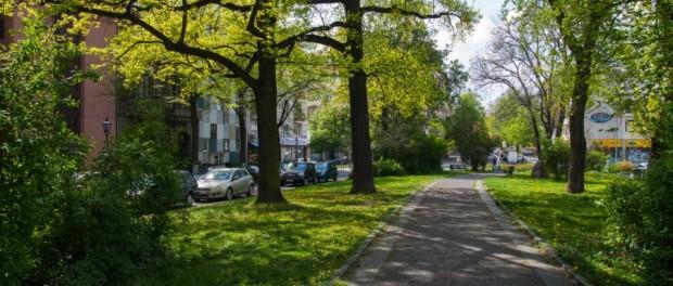 Die Wilhelmsaue in Berlin Wilmersdorf