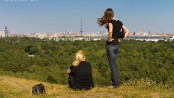 Ein wunderbarer Blick vom Teufelsberg auf Berlin