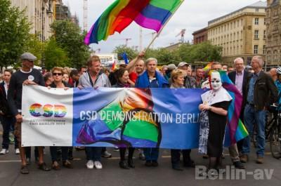 Die Demo des Aktionsbündnisses CSD Berlin 2014