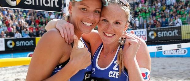 Die Siegerinnen in Berlin: Kristyna Kolocova und Marketa Slukova