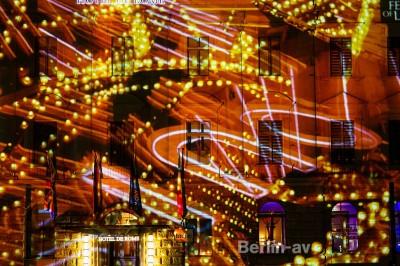 Festival of Lights Berlin 2014 - Projektion auf dem Hotel du Rome