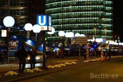 Die Lichtgrenze am Potsdamer Platz.
