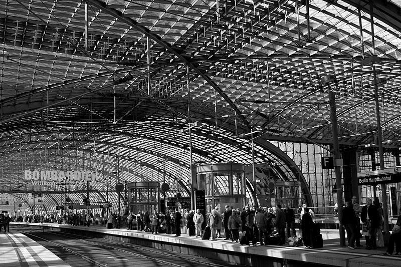 Berlin Schwarzweiss - Hauptbahnhof - Schwarzweißfotos