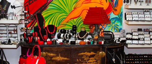 Vielfältiges und buntes Angebot in der Gallery Schrill in der Bleibtreustrasse
