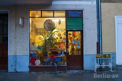 Der kleine Laden von Platten Pedro in Berlin