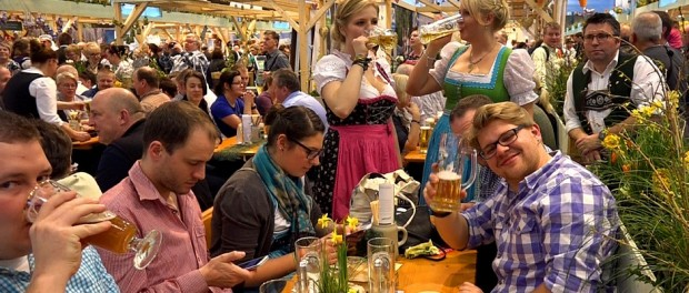 Beste Stimmung in der Bayernhalle auf der Grünen Woche 2015