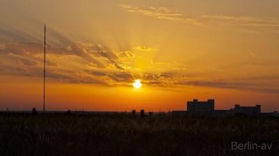 Sonnenuntergang auf dem Berliner Teufelsberg