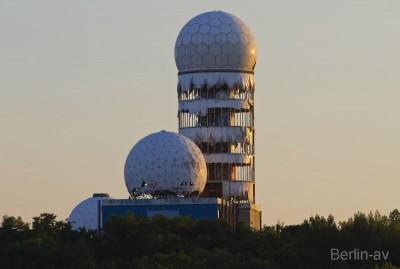 Die ehemalige Radarstation der Amerikaner auf dem Teufelsberg