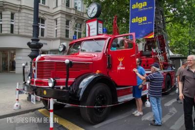 Auch Nutzfahrzeuge sind in diesem Jahr dabei.  Feuerwehrfahrzeug Krupp Tiger von 1955 - Classic Days Berlin