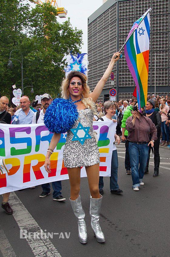 Christopher Street Day in Berlin 2015 - Gäste aus Israel