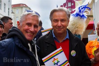 Der ehemalige Regierende Bürgermeister Klaus Wowereit mit Partner Jörn Kubicki