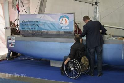 Barrierefreies Katamaransegeln auf der Boot und Fun 2016