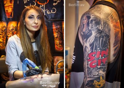 Anjelika Kartasheva aus Moskau auf den Lady Ink Days in Berlin