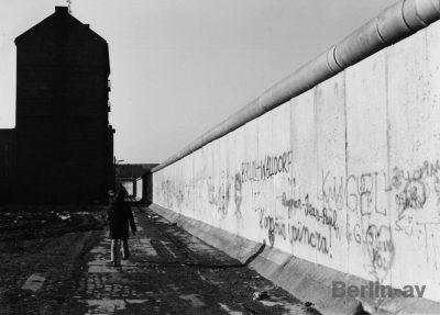 Alte Berlinfotos - Die Berliner Mauer in Kreuzberg