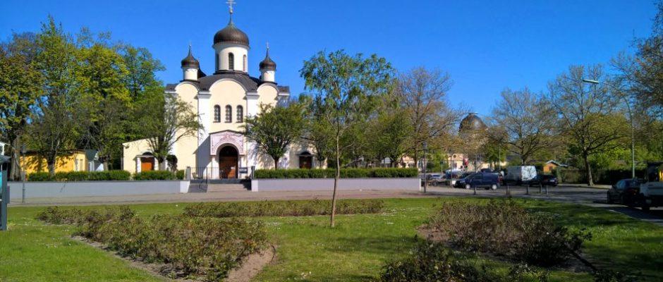 Die russisch-orthodoxe Christi Auferstehungs-Kathedrale