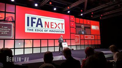 Auf der IFA 2017-Eröffnungspressekonferenz