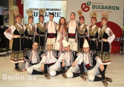 Das Nationalfolklore Ensemble Bulgare trat in der Halle des Partnerlandes Bulgarien auf.