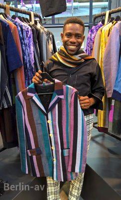Kenneth Ize aus Nigeria auf der Premium Berlin