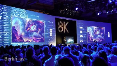 Großer Auftritt für den 8K Fernseher von Samsung