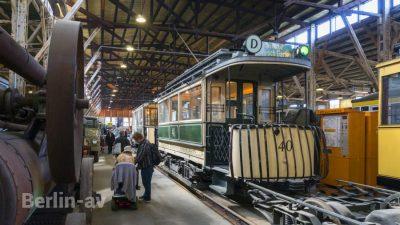 Altberliner Strassenbahn im Depot für Kommunalverkehr