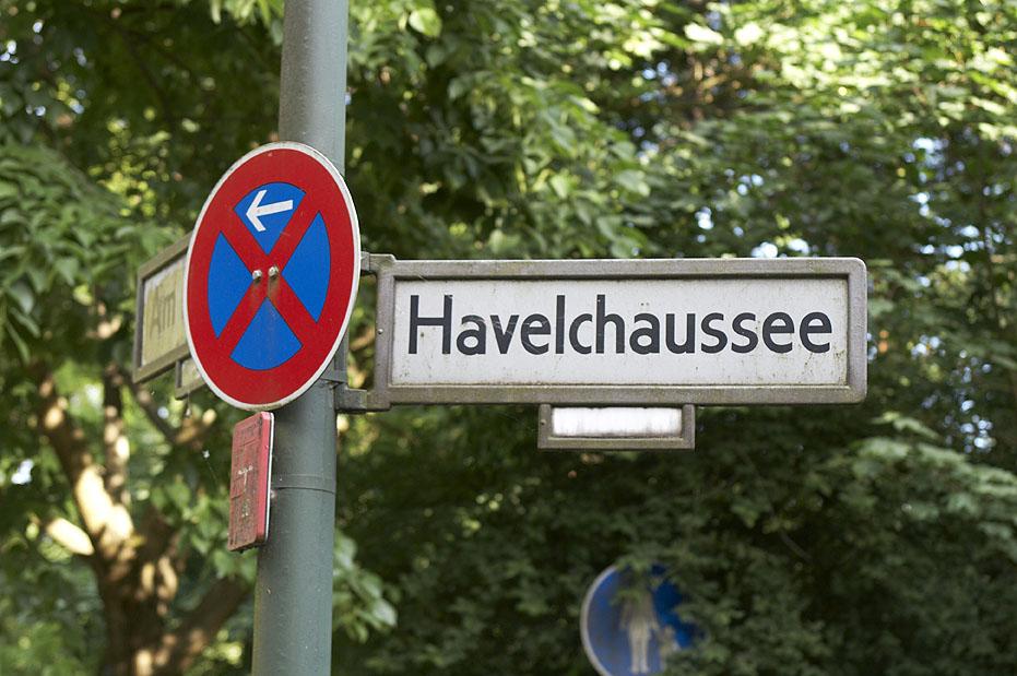Radtour Grunewald: Radweg an der Havelchausssee