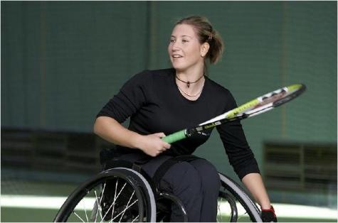 Katharina Krüger beim Training
