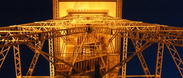 Der Berliner Funkturm in der Nacht