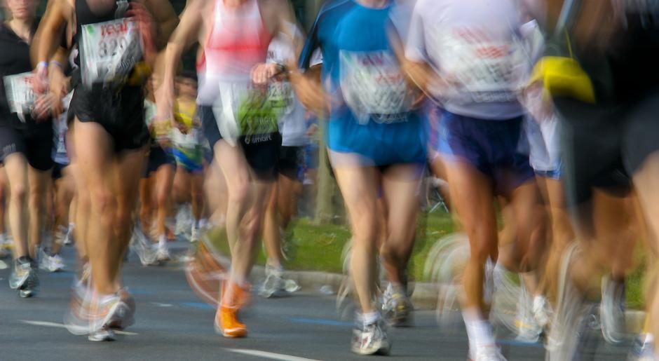 Berlin-Marathon 2005; verwischt Impression