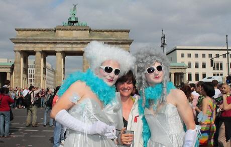 Auf dem CSD in Berlin - Berlin aus schwul-lesbischer Sicht