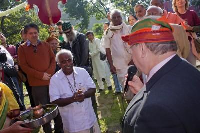 Grundsteinlegung Hindutempel Berlin
