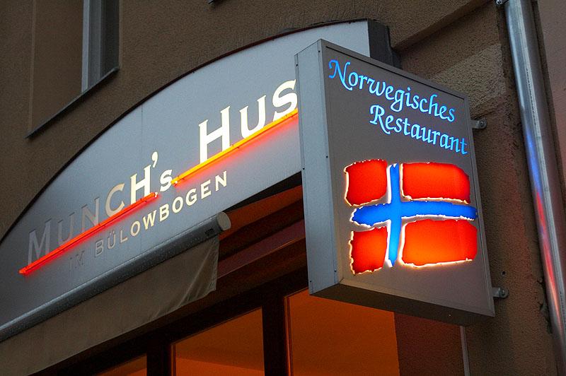 """Das norwegische Restaurant """"Munchs Hus"""" in Berlin"""
