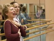 Polina Großmann im Ballettsaal