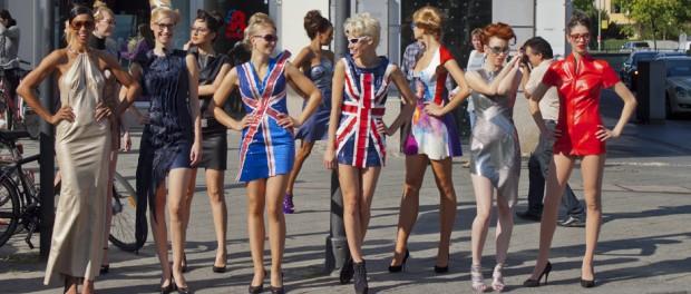 Models in Leder-Kreationen von Daniel Rodan