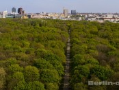 Berlin von oben von der Siegessäule aus.