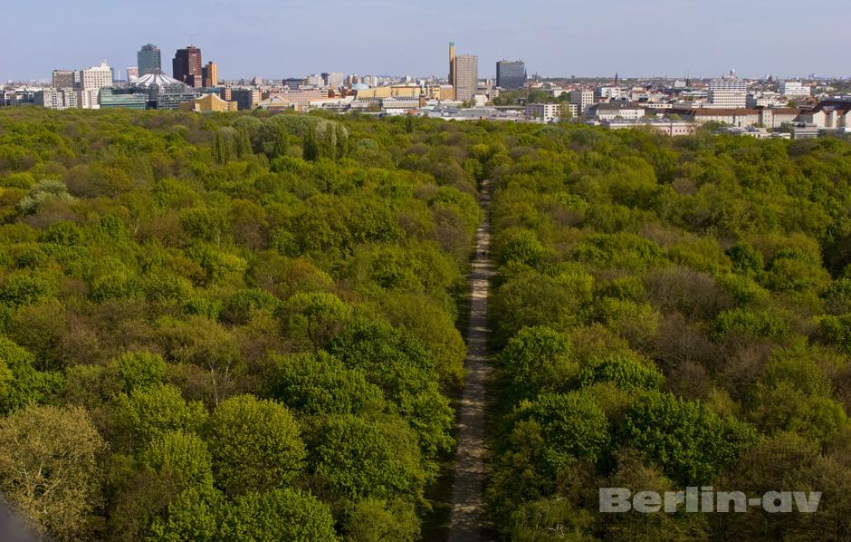 Berliner Fotospots - Berlin von oben von der Siegessäule aus.