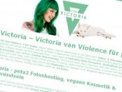 Victoria van Violence für peta2