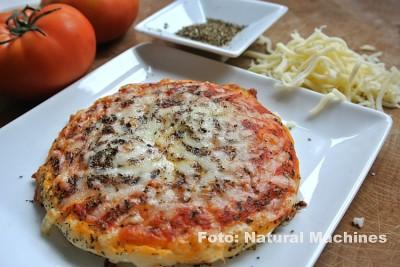 Kein Witz! Einfache Pizza aus dem 3D-Drucker. Foto: Natural Machines