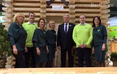 Der lettische Landwirtschaftsminister  Janis Duklavs auf der Messe - Grüne Woche 2015