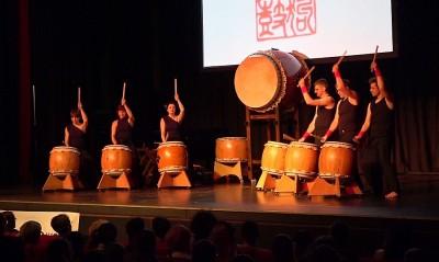 Taiko Trommeln auf dem JapanFestival in Berlin