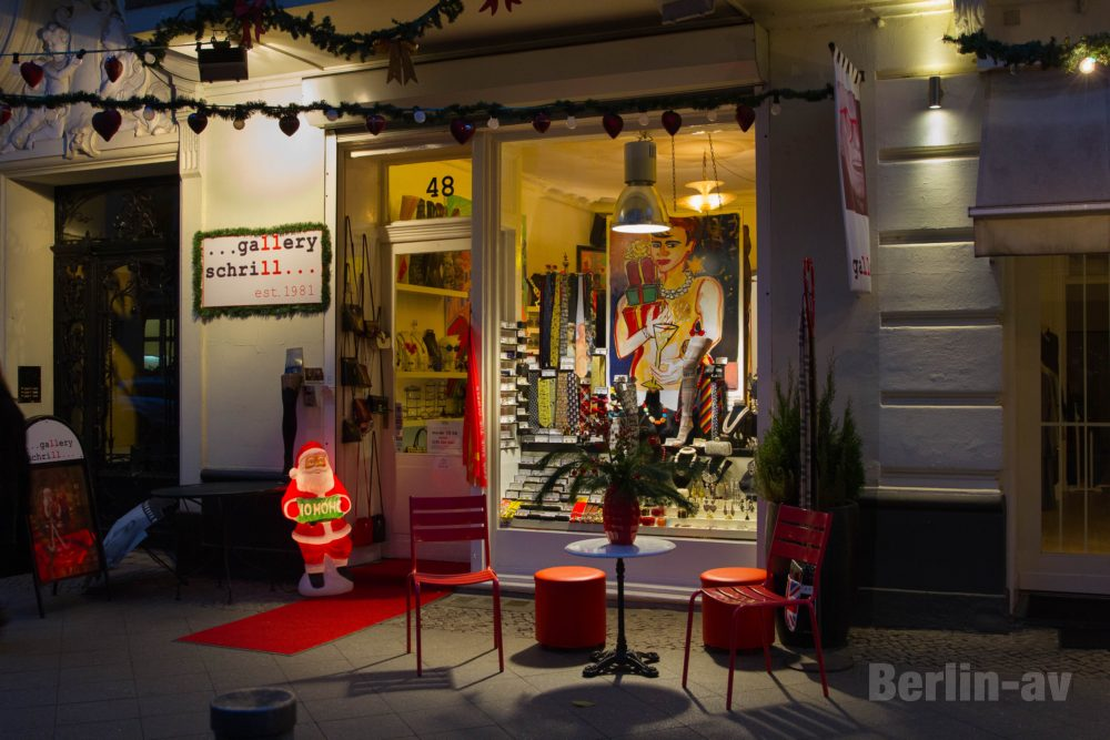 Gallery Schrill in der Berliner Bleibtreustraße