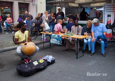 Bergmannstrassenfest 2015 - Afrikanischer Strassenmusiker