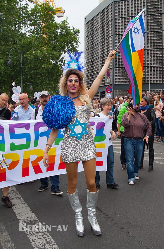 Christopher Street Day in Berlin 2015 - Gäste aus Israel