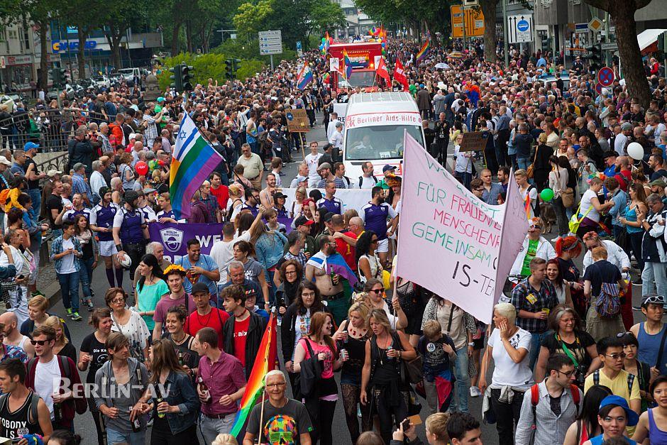 Eine Teilansicht dess Christopher Street Day Berlin 2015