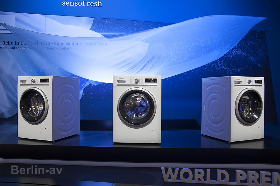 Haushaltsgeräte auf der IFA 2015. Waschmaschinen von Siemens